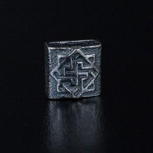 """Бусина """"для браслета 4"""" с серебряным покрытием"""