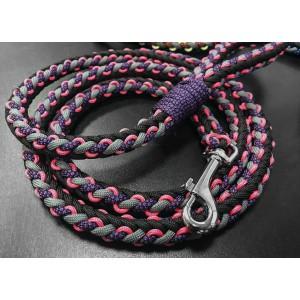 Поводок для собаки, из паракорда v4 (Purple)