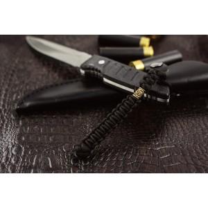 Темляк из паракорда, Scandinavian 1, с бусиной ручного литья. Black