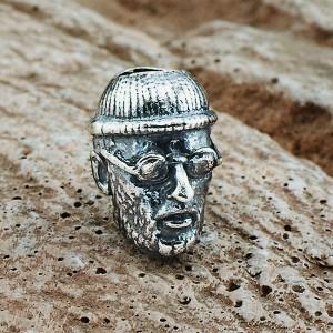 """Бусина для темляка""""Леон"""", ручное литье, с серебряным покрытием"""
