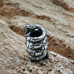 """Бусина для темляка """"Змея"""", ручное литье с серебряным покрытием"""