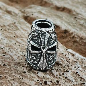 """Бусина для темляка """"Шлем Храмовника"""", ручного литья с серебряным покрытием"""