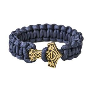 "Браслет из паракорда ""Молот тора"", navy blue"
