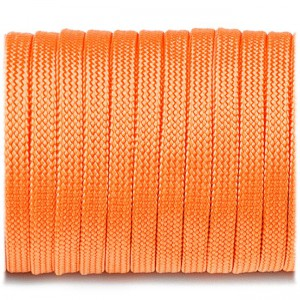 Coreless Paracord, orange yellow #044-H, (полый шнур)