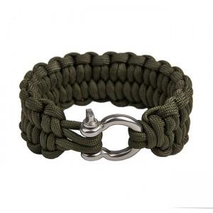 """Быстрорасплетающийся браслет из паракорда """"Петли"""", Army green"""