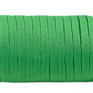 Coreless paracord, Green #025-H, (полый шнур)