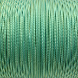 Paracord 550, ice mint yellow stripes #255