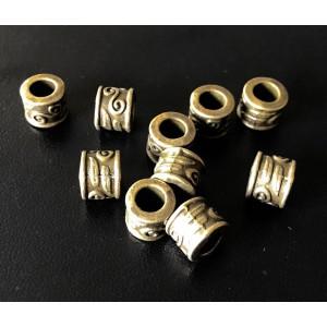 Бусина Трубка Античный стиль, бронза