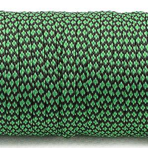 Coreless Paracord, emerald green snake #265-H, (полый шнур)