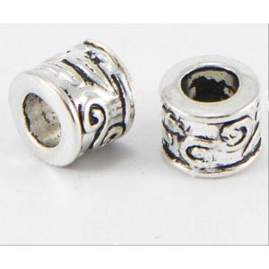 Бусина Трубка Античный стиль, серебро