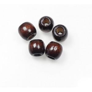 """Бусина """"Деревянный шар"""", кофе, для миникорда"""