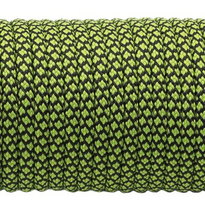Paracord 550, fluo green snake (016+017) #091