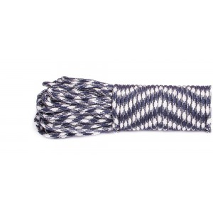 SALE! Paracord 550, navy white #199, моток 10м