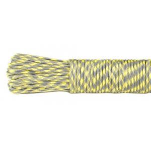 SALE! Paracord 550, grey yellow #371, моток 10 метров