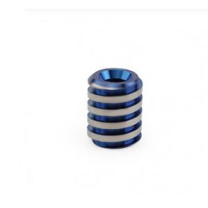 """Титановая бусина для темляка """"Twist"""", синяя"""