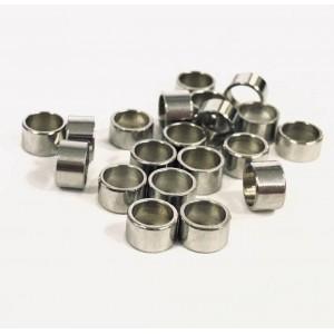 Бусина-разделитель, Цилиндр. Нержавеющая сталь, 3*5мм