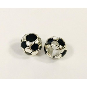 Бусина Мяч. Цвет: Античное серебро. Размер: 9х8мм, Отв-е 4.2мм