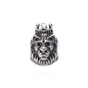 Бусина Лев с Короной, нержавеющая сталь