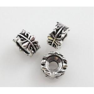 Бусина-разделитель металлическая Fleur. Цвет: античное серебро. Размер 7*4 мм. Отверстие 3 мм