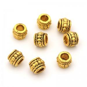Бусина металлическая Амфора. Цвет: античное золото. Размер 8*6,5 мм. Отверстие 3,5мм
