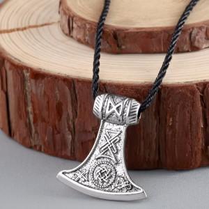 Подвес Топор викингов. Металл. Цвет: Античное серебро