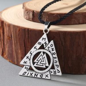Подвес рунический, символ Викинга. Металл. Цвет: Античное серебро