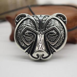 Амулет викингов, Медведь . Металл. Цвет: Античное серебро.