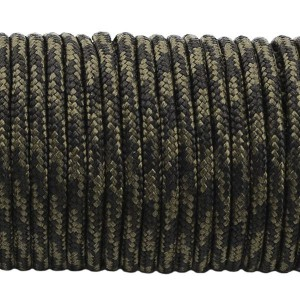 Minicord. Paracord 100 Type I (1.9 mm), black forest #309-type1