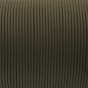 Minicord. Paracord 100 Type I (1.9 mm), army green #010-type1