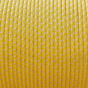 Minicord. Paracord 100 Type I (1.9 mm), white/yellow pastel snake #447 (007|419)-Type1