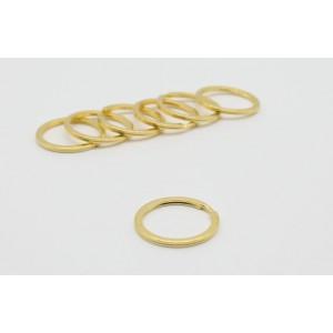 Кольцо плоское для ключей, 30 мм. Золото