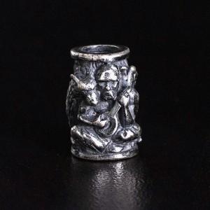 """Бусина для темляка """"Казак"""", ручное литье с серебряным покрытием"""