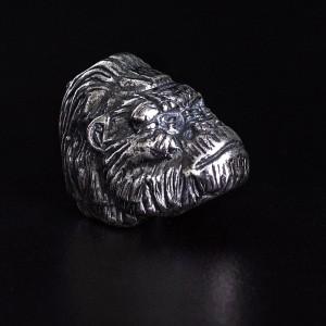 """Бусина для темляка """"Кинг Конг"""", ручное литье с серебряным покрытием"""