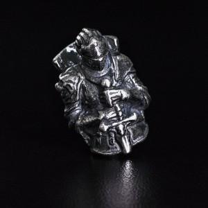 """Бусина для темляка """"Рыцарь"""", ручное литье с серебряным покрытием"""