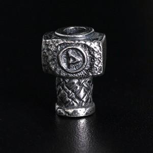 """Бусина для темляка """"Мьельнир"""", ручное литье с серебряным покрытием"""