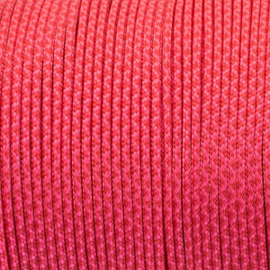 Minicord. Paracord 100 Type I (1.9 mm), сrimson /sofit pink #448 (324|315)-Type1