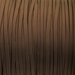 Coreless Paracord, copper brown #015-H, (полый шнур)
