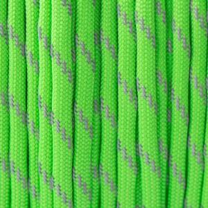 Paracord 550, reflective X3 neon green #r3462 (светоотражающий)