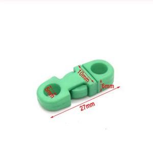 Закругленный фастекс пластиковый 5мм, зеленый