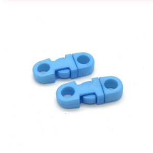 Закругленный фастекс пластиковый 5мм, голубой
