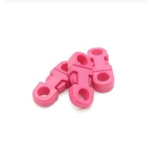 Закругленный фастекс пластиковый 5мм, розовый