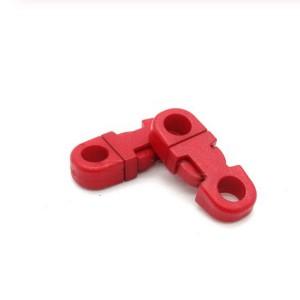 Закругленный фастекс пластиковый 5мм, красный