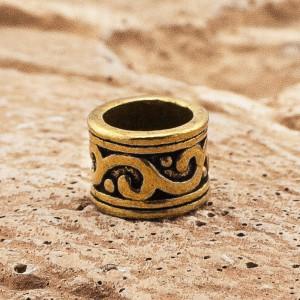 Бусина Rondelle Тибетская, ручное литье