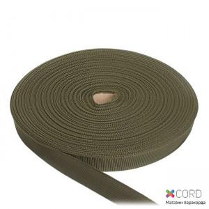 Стрічка ремінна / 50 метрів, 20 мм, олива поліамідна