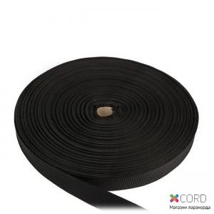 Стрічка ремінна / 50 метрів, 25 мм, чорна поліамідна