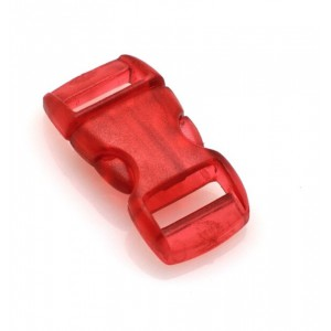 """3/8"""", прозрачный красный, фастекс пластиковый"""