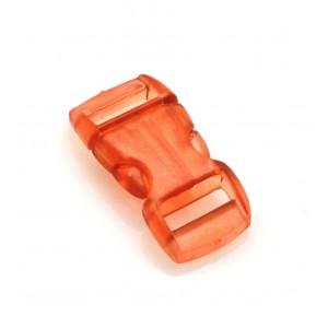 """3/8"""", прозрачный оранжевый, фастекс пластиковый"""