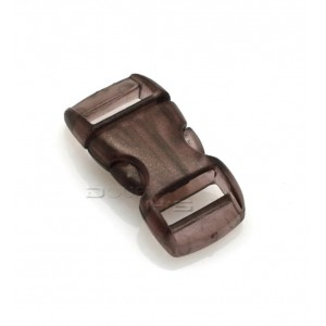 """3/8"""", прозрачный коричневый, фастекс пластиковый"""