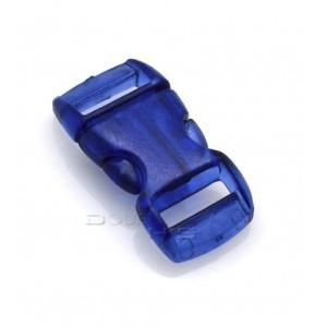 """3/8"""", прозрачный синий, фастекс пластиковый"""