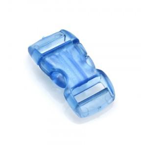 """3/8"""", прозрачный голубой, фастекс пластиковый"""